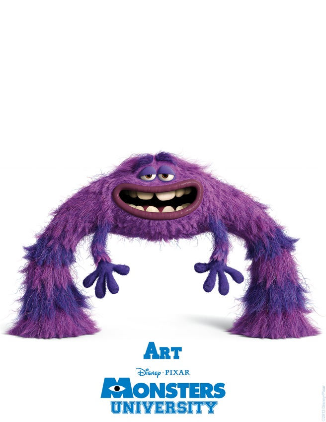 Art MONSTERS UNIVERSITY Character Poster