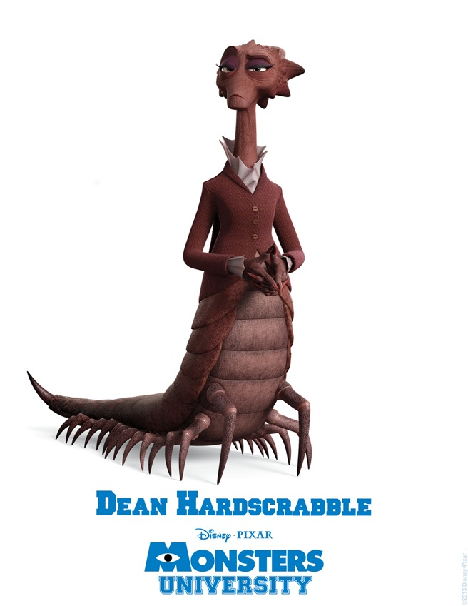 Dean Hardscrabble MONSTERS UNIVERSITY Character Poster