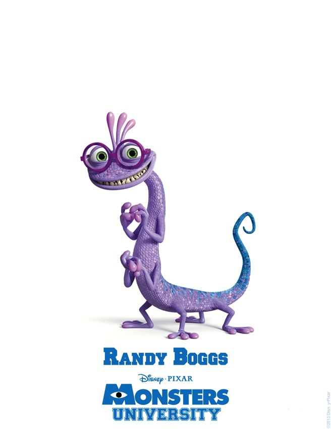 Randy Boggs MONSTERS UNIVERSITY Character Poster