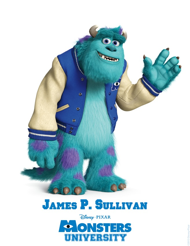 James P. Sullivan MONSTERS UNIVERSITY Character Poster