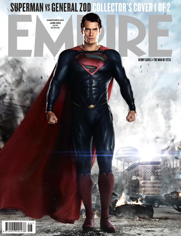 Empire Magazine MAN OF STEEL Cover with Henry Cavill as Superman