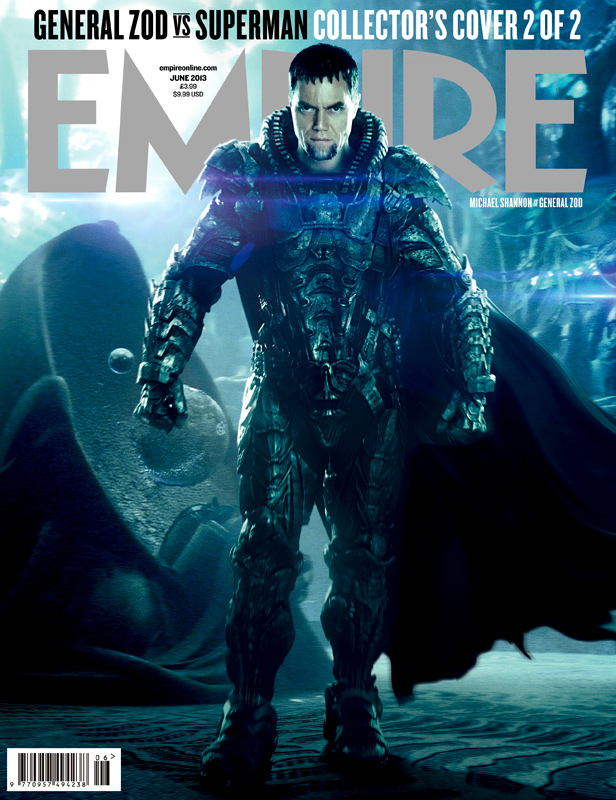 Empire Magazine MAN OF STEEL Cover with Michael Shannon as General Zod