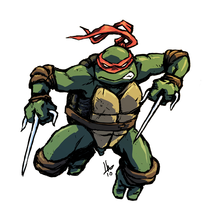 Teenage Mutant Ninja Turtle Raphael illustration