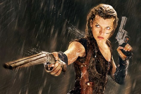 Milla Jovovich in RESIDENT EVIL franchise