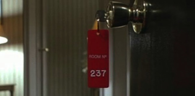 Room key 237 in THE SHINING featured in Rodney Ascher's documentary ROOM 237