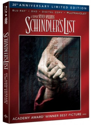 SCHINDLER'S LIST: 20th Anniversary Limited Edition Blu-ray Combo Pack Box Art