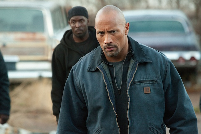 "Dwayne ""The Rock"" Johnson and Michael K. Williams in SNITCH"