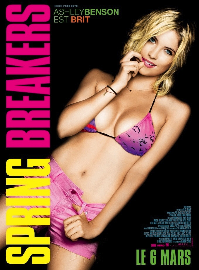 Ashley Benson International Character Poster for SPRING BREAKERS