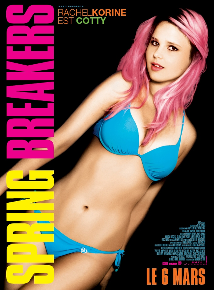 Rachel Korine International Character Poster for SPRING BREAKERS