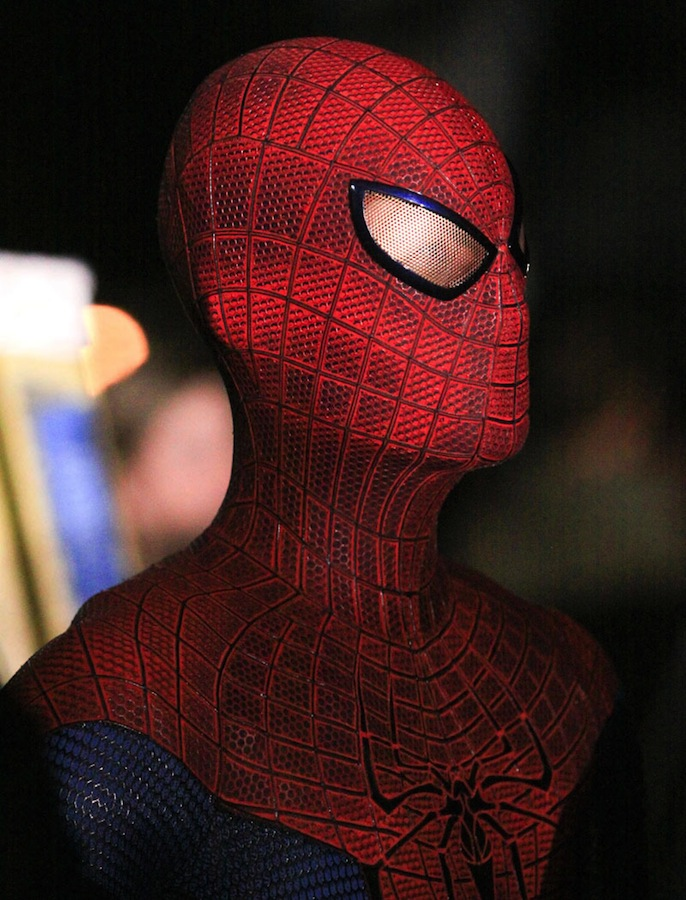 Close-up of Spider-Man suit from THE AMAZING SPIDER-MAN