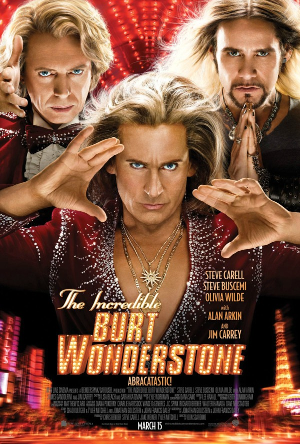 The theatrical one sheet for THE INCREDIBLE BURT WONDERSTONE