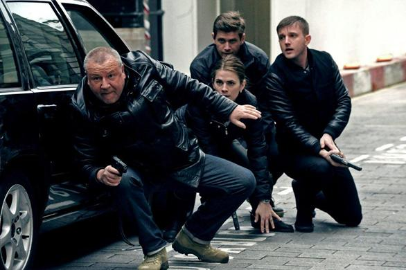Ray Winstone, Hayley Atwell and Ben Drew in THE SWEENEY