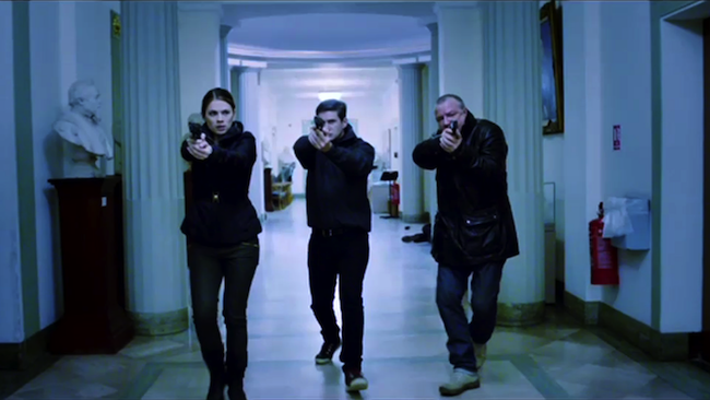 Hayley Atwell, Ben Drew and Ray Winstone in THE SWEENEY