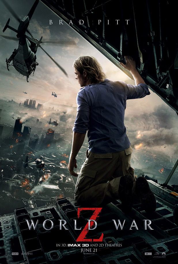 WORLD WAR Z One Sheet with Brad Pitt