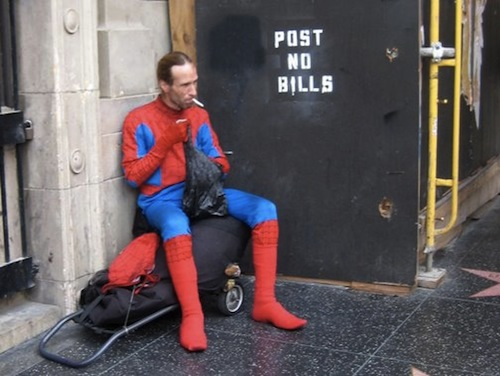 Spider Man Smoke Break