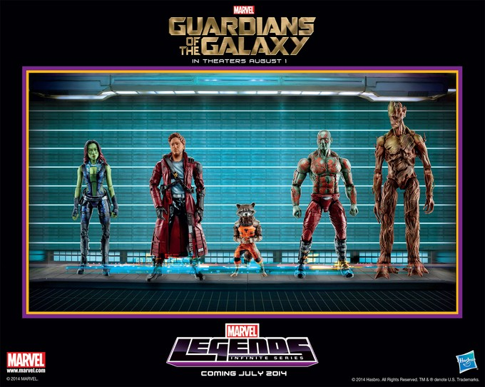 GUARDIANS OF THE GALAXY toy poster