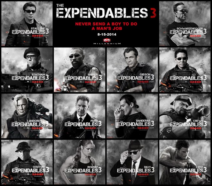 EXPENDABLES 3 line-up