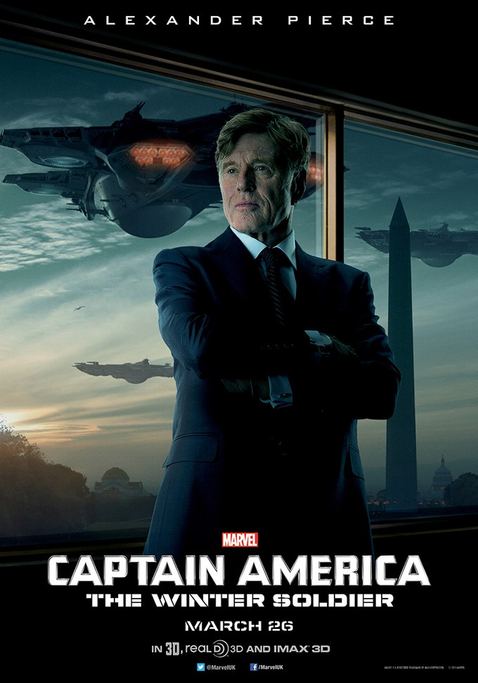 CAPTAIN AMERICA: THE WINTER SOLDIER Redford character poster