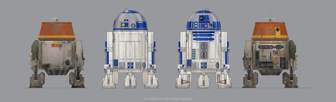 STAR WARS REBELS - 'Chopper' / R2-D2 comparison