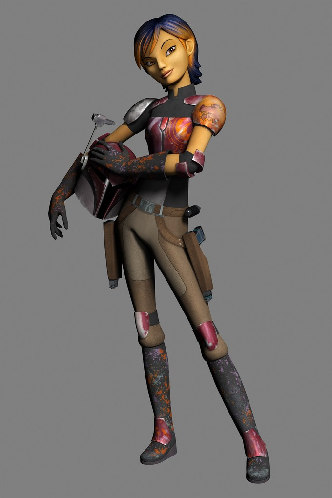 STAR WARS REBELS - Sabine concept art