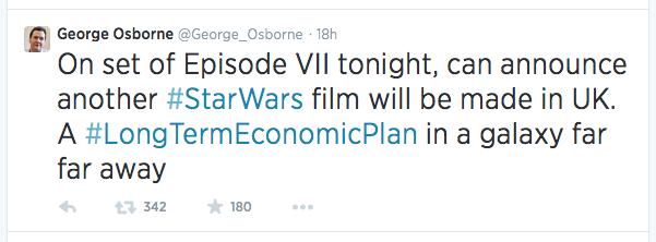 Osborne Tweet #1