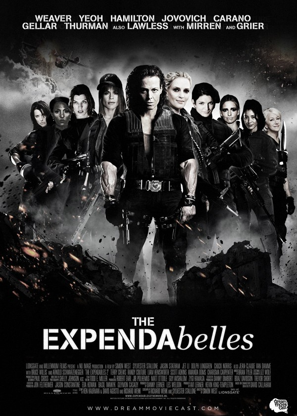 THE EXPENDABELLES fan art