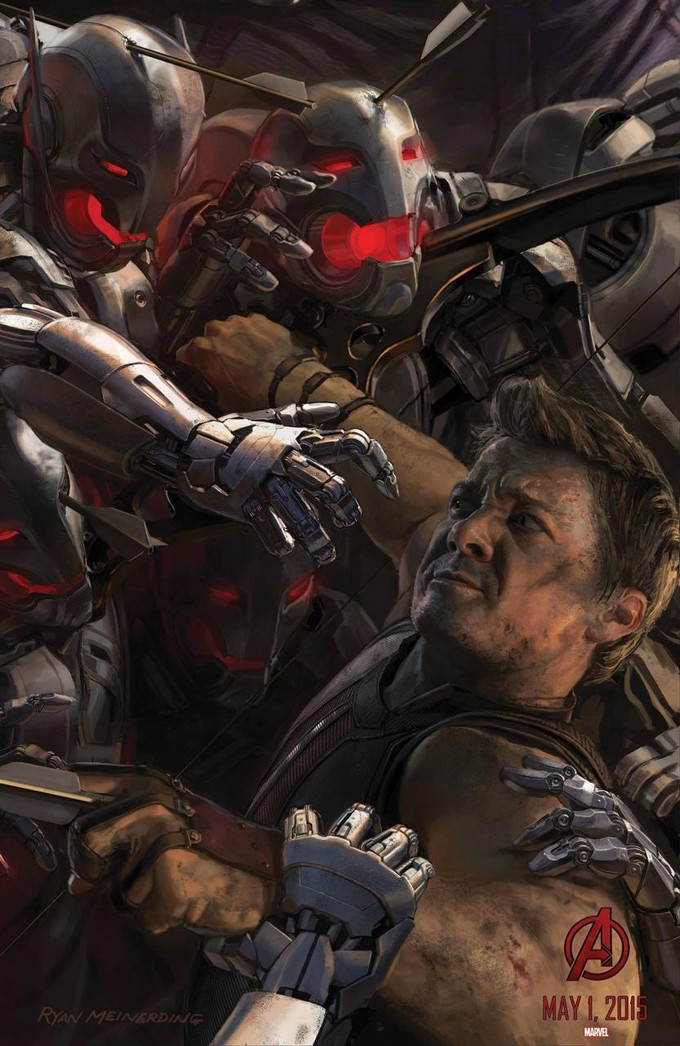 AVENGERS: AGE OF ULTRON Hawkeye promo art