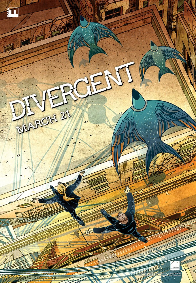 DIVERGENT - IMAX poster