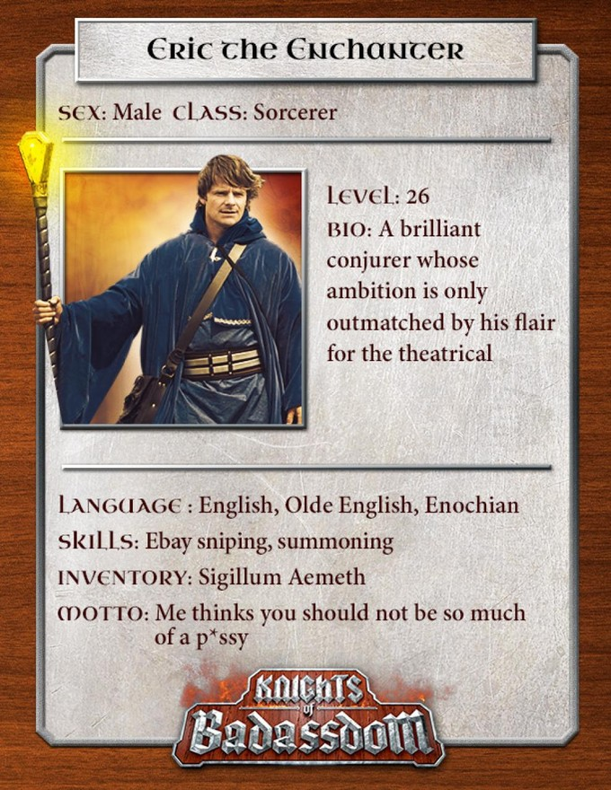 KNIGHTS OF BADASSDOM character card