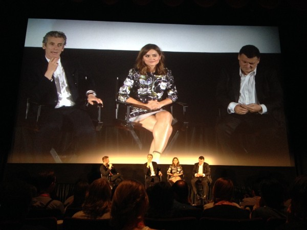 Capaldi, Coleman, Moffat at DOCTOR WHO: Deep Breath premiere in NYC.