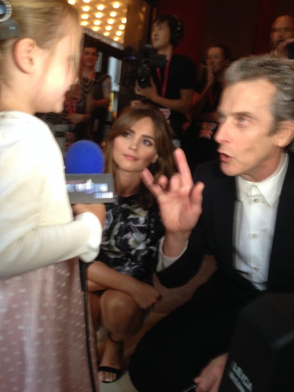Lindalee, Capaldi, Coleman at DOCTOR WHO: Deep Breath premiere in NYC
