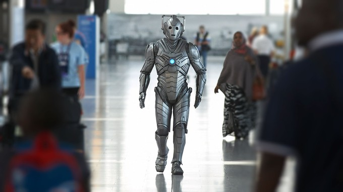 Cyberman at Heathrow
