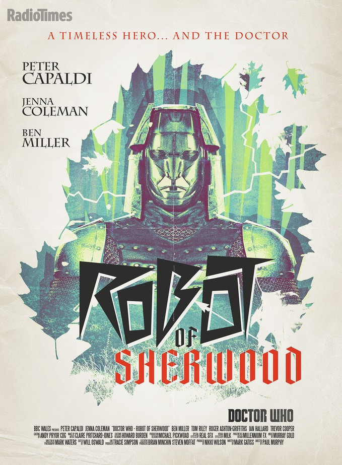 DOCTOR WHO: Robot of Sherwood poster via Radio Times