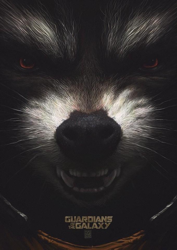 Rocket Raccoon fan art