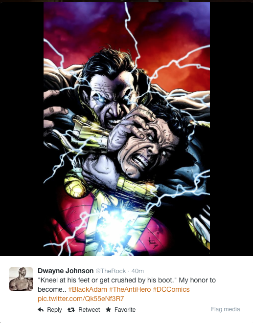 Dwayne Johnson Tweet