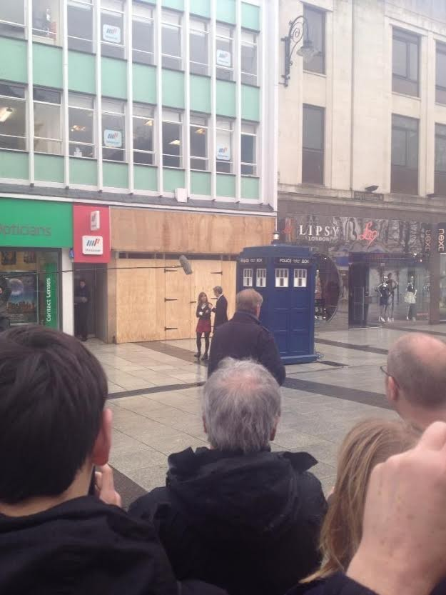 Capaldi / Coleman filming DW S8