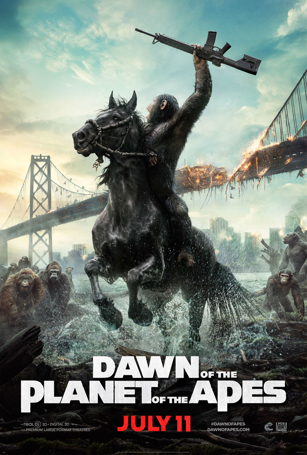 Dawn of the Planet of the Apes / Зората на планетата на маймуните (2014)