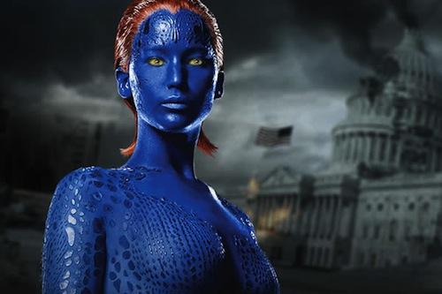Jennifer Lawrence Mystique Makeup Process jennifer lawrence myst...