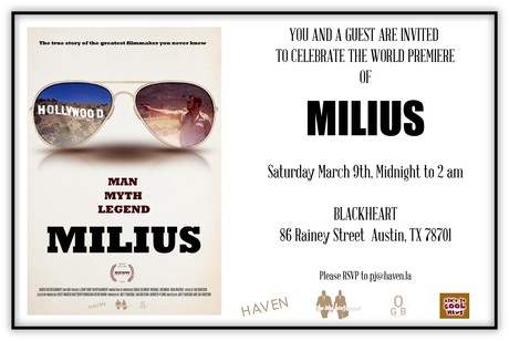 Milius Party Invite