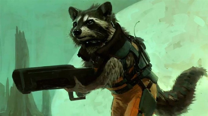 Rocket Raccoon Prod Art 1