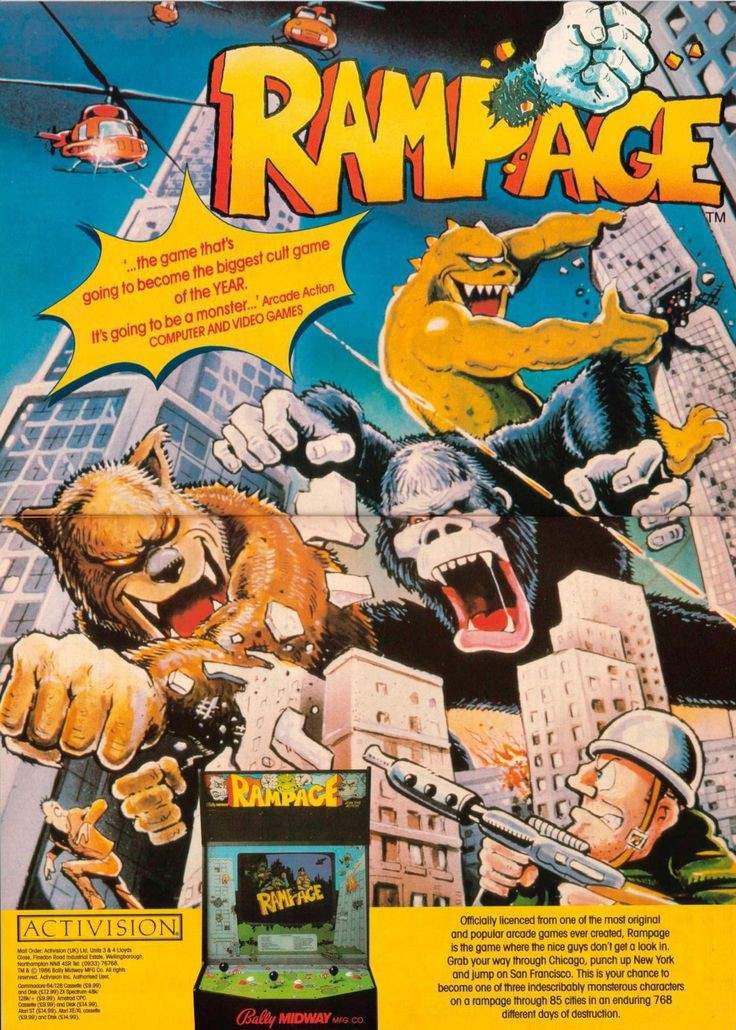Rampage Is Now Happening Monsters Smash The World