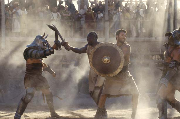 gladiator movie shots