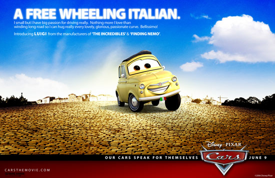 Pixar wants-a you-a to meet-a pair of CARS-a named Luigi and Guido!!!