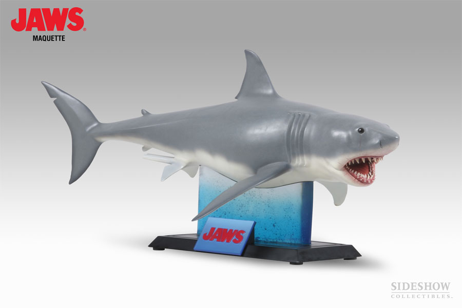 Jaws Rubber Shark Toy : Win sideshow s awesome jaws maquette here