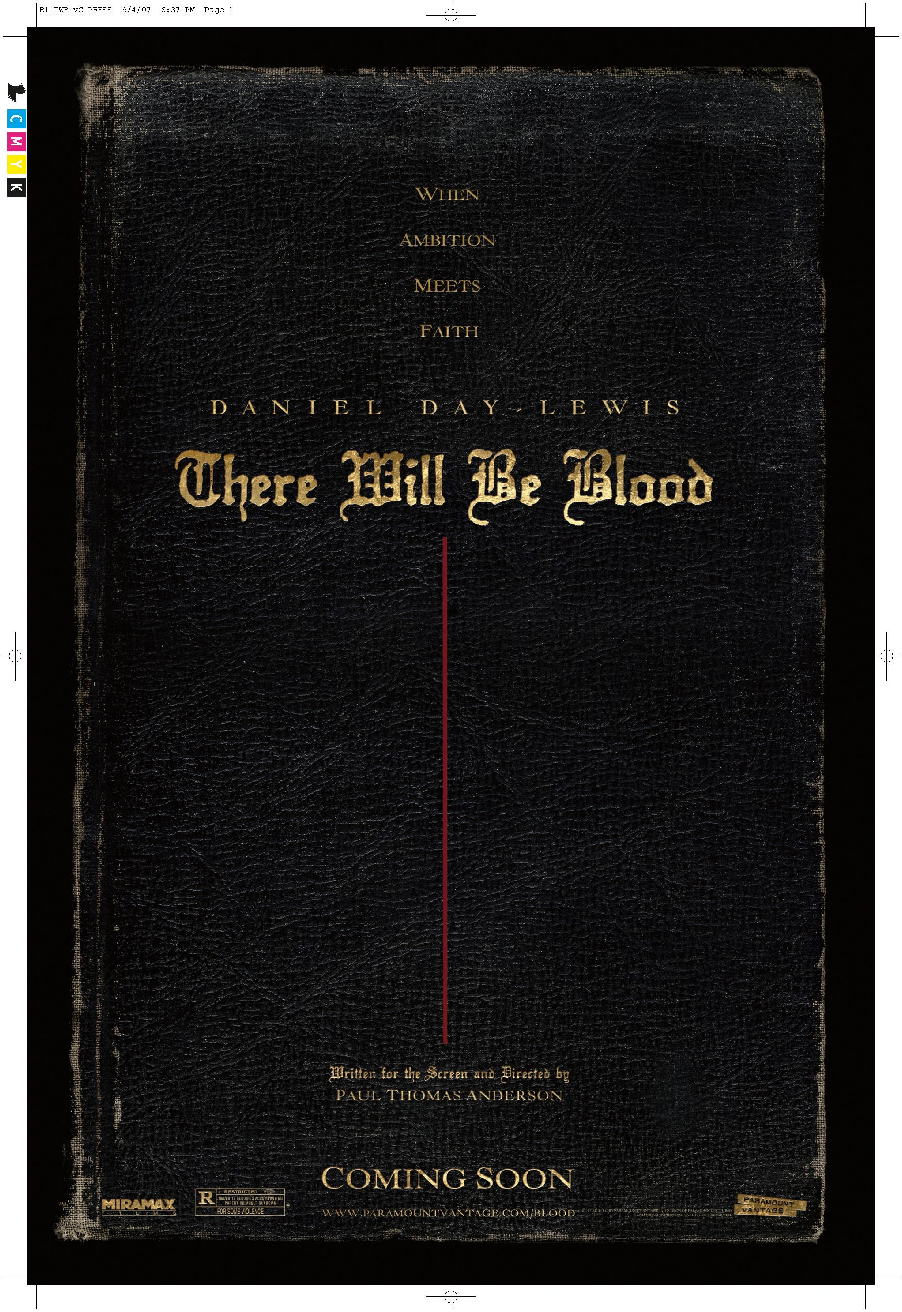 Teaser Poster & Trailer for Paul Thomas Anderson's THERE WILL BE