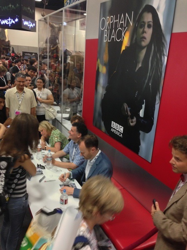 San Diego Comic Con - Moffat, Gatiss, Vertue signing