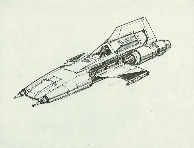 Colonial Viper concept sketch - GALACTICA (1978)