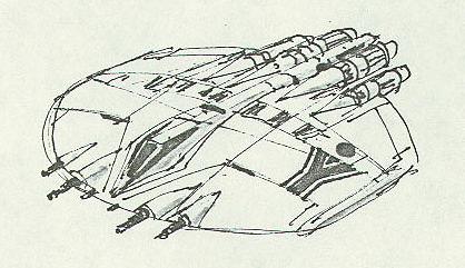 Cylon Raider concept sketch (GALACTICA 1978)