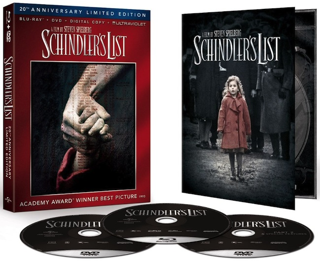 SCHINDLER'S LIST Blu-ray Box Art