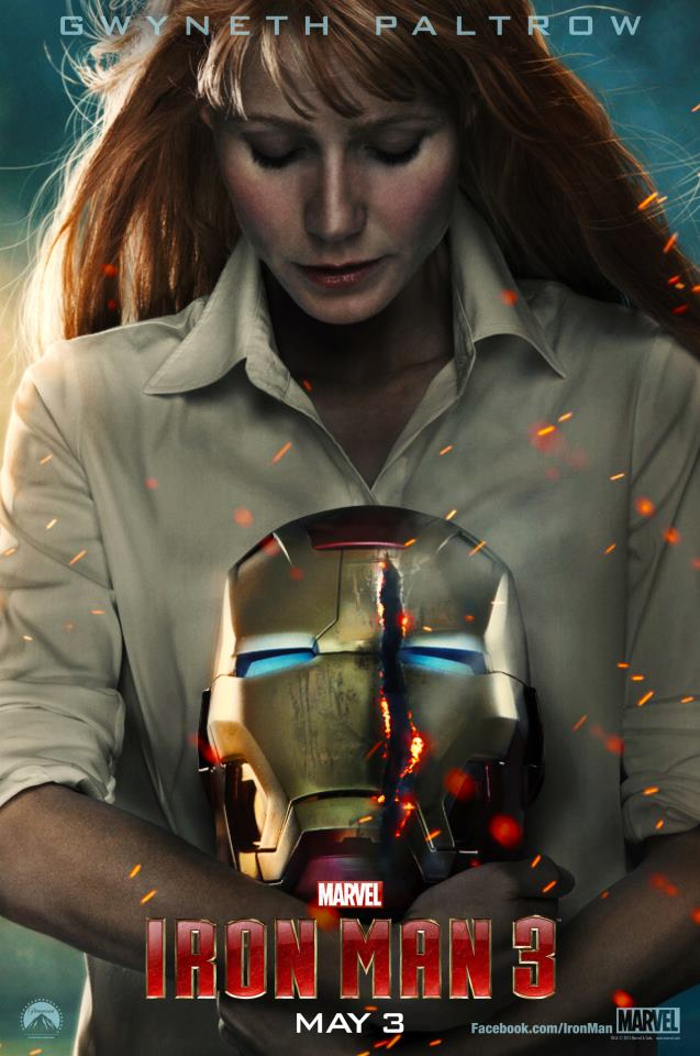 Gwyneth Paltrow as Pepper Potts in IRON MAN 3 Character Poster